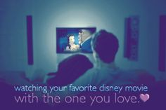 Watching your favorite Disney movie with the one you love. <3 #disney #date #night #love #spouse #romance #belle #beautyandthebeast
