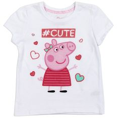 Peppa Pig Toddler Girls Shirt From Nick Jr Color White Sizes Material Cotton Polyester Brand Nick Jr Peppa Pig Officially Licensed Nick Jr Peppa Pig Toddler Girls Clothes Warehouse Location Conroe Texas Ships From Warehouse In Business Days Cute Toddler Girl Clothes, Toddler Girl Outfits, Kids Outfits, Toddler Girls, Shirts For Girls, Kids Shirts, Peppa Pig Colouring, Pig Girl, Nick Jr