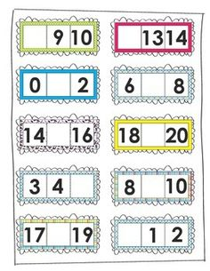 This product will give your students practice with missing numbers. You can laminate to be reused. Great practice for mClass math!