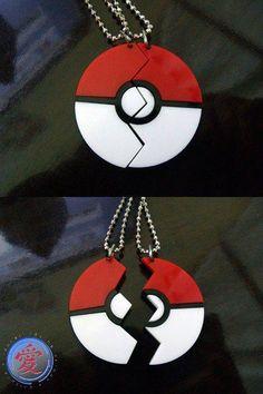 Pokemon poke-ball friendship pendant charm necklace