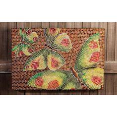 butterfly mosaic art | Mosaic Art Decor | Wayfair