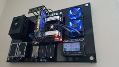 Evolution Of Feros wall mounted PC case