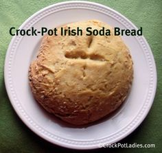 Traditional Irish Soda Bread cooked in the crock-pot. This recipe uses buttermilk and no raisins or caraway seeds to follow the more authentic recipes.