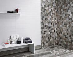 Keramická dlažba mozaika s tvary hexagonu ze série Barn Wood, matný povrch, 35 x 37,5 cm, Dom Ceramiche, cena 599 Kč/ks, www.siko.cz