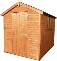 Garden Sheds Edinburgh high quality cedar workshop with joinery made double doors and