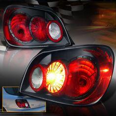 ( JDM BLACK ) 2002-2003 Subaru Impreza WRX / RS BRIGHTEST LED Tail Lights Lamps