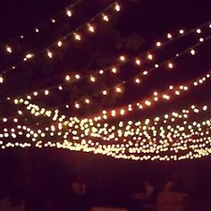 Starry Lights at the Engagement Party