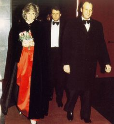 February 11, 1984: HRH Diana, Princess of Wales with Prince Harold (King Harold) at the London City Ballet performing in Oslo Norway. It was her first solo trip.