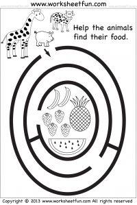 preschool maze #Worksheet #Homeschool