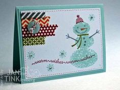 Jan's fun card combines Snow Day with washi tape from 3 sets - Epic Day, Witches' Brew, & Season of Style.