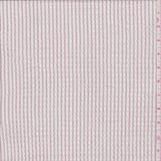 White/Blush Pink Stripe Seersucker - 28579 - Fabric By The Yard At Discount Prices - $4.45