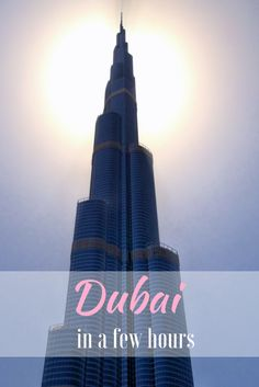 What to see in Dubai if you have only a few hours? How to plan your stopover in Dubai? Our guide along with transport options in Dubai!