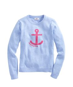 Girls Anchor Intarsia Sweater