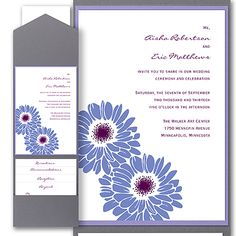 Dizzy Daisies - Layered Pocket Invitation