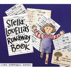 Stella Louella's Runaway Book by Lisa Campbell Ernst. Library (returning books) / A cumulative tale in which Stella enlists the entire neighbourhood to help her find her book.