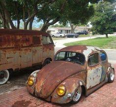 Low Rusty Bug - simons welt - Design de Carros e Motocicletas Vw Volkswagen, Vw T1, Fancy Cars, Cool Cars, Vw Rat Rod, Rat Rods, Combi T2, Supercars, Vw Classic