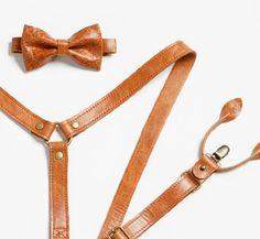 Amazon.com: Brown Leather Suspenders: Handmade