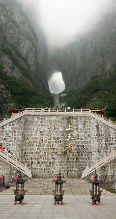 Heaven's Gate stairs, Tian Men Shan, Zhangjiajie, China. | #MostBeautifulPages