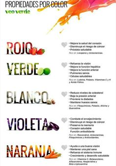 Alimentos por color