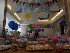 Aniversário do Arthur de 2 anos em casa - tema: Jorge Pig