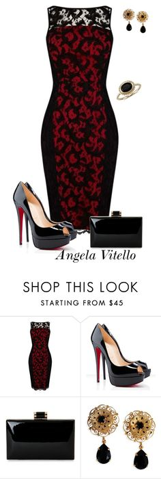 """Untitled #704"" by angela-vitello on Polyvore featuring Karen Millen, Christian Louboutin, Dolce&Gabbana and Blue Nile"