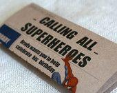 Superhero Newspaper Invitation: DIGITAL FILE for you to print. $20.00, via Etsy.