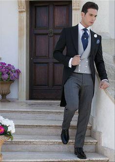 Italian wedding suits, morning suit model: G04-(95).