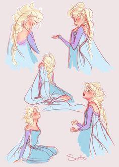 Elsa sketches :3