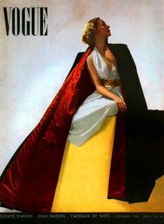 Vogue Paris, December 1936 #cover | Photo by Horst P. Horst