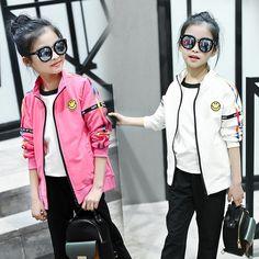 19.11$  Watch here - 2017 spring autumn children clothing sets new girl child Korean Smiling sports wear cartoon girls leisure suits   #magazineonlinebeautiful