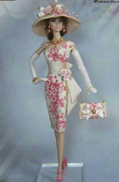 Fashion Dolls, Retro Fashion, Vintage Fashion, Vintage Barbie Clothes, Doll Clothes, Beautiful Dresses, Nice Dresses, Barbie Images, Barbie Wedding