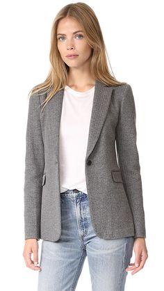 alice + olivia Macey Fitted Notch Collar Blazer | SHOPBOP