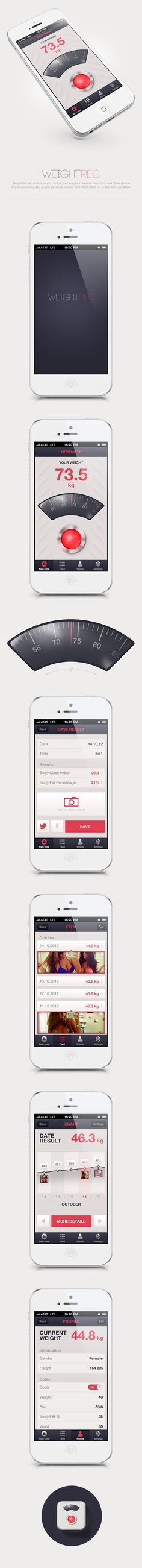WeightRec #App on #Behance #Mobile