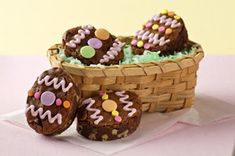 BAKER'S One-Bowl Easter Egg Brownies - find other stunning dessert recipes at dessertcentre.ca