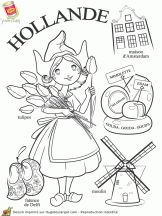 """iColor """"Little Kids Around The World"""" ~ Holland Coloring Book Pages, Coloring Pages For Kids, Little Passports, World Thinking Day, World Geography, World Crafts, World Cultures, In Kindergarten, Kids Learning"""