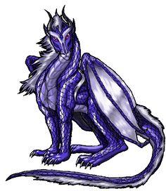 Blue-violet dragon photo atlantisdragon11.gif