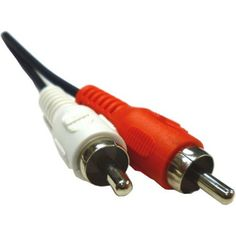 Professional Cable 12' Stereo Left and Right Cable, Red/White