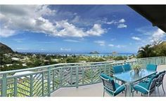 Kailua Real Estate for sale. Listings from the Oahu MLS (Kailua homes, condos and land for sale). Lanikai beach front properties in Hawaii Porch Railing Designs, Front Porch Railings, Beachfront House, 2020 Vision, Land For Sale, Oahu, Beach House, Condo, Tropical