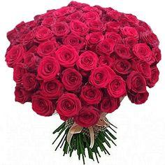 """Букет состоит из 101 розы """"Гран При"""" 60 см, Голландия http://www.dostavka-tsvetov.com/shop/4/desc/101_roza"""