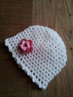 Mijn eerste baby mutsje Crochet Hats, Beanie, Knitting Hats, Beanies, Beret