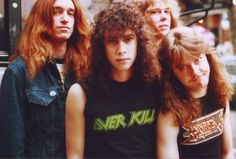 Cliff Burton, Kirk Hammett, James Hetfield Y Lars Ulrich