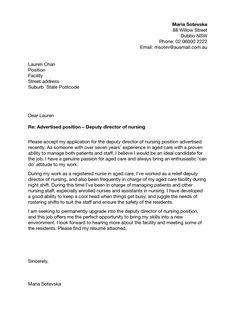 Cover letters, Nursing cover letter and Nursing on Pinterest
