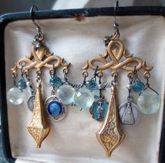 SOLD+to+Jo+Ann++vintage+assemblage+earrings++by+TheFrenchCircus,+$72.00