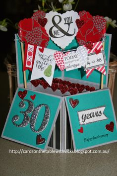 Cards on the table with Vicki: Happy Anniversary