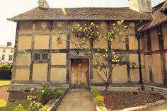 A Tudor cottage, in Stratford-upon-Avon