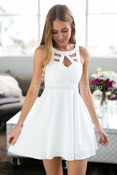 All Eyes On Me Dress (White)