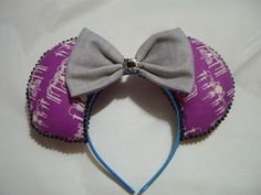 Haunted Mansion inspired Mickey Mouse ears by Glitteratheart on Etsy