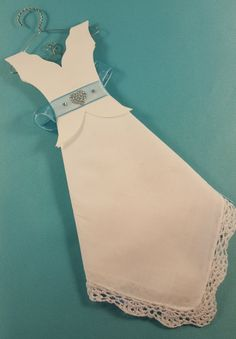 Wedding Dress hankie gift for the Bride by SimplyCharmingGifts