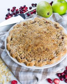 Counting down to #Thanksgiving! This Cranberry Apple Ginger Pie will be one of my contributions to my family's feast. Sharing #ontheblog soon! #kneadbakecook #kbckitchen #pie