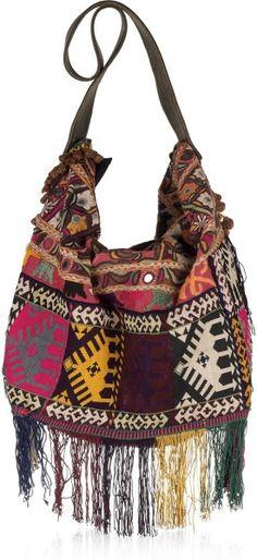 ➳➳➳☮ American Hippie Bohemian Boho Feathers Gypsy Spirit Style - Bag